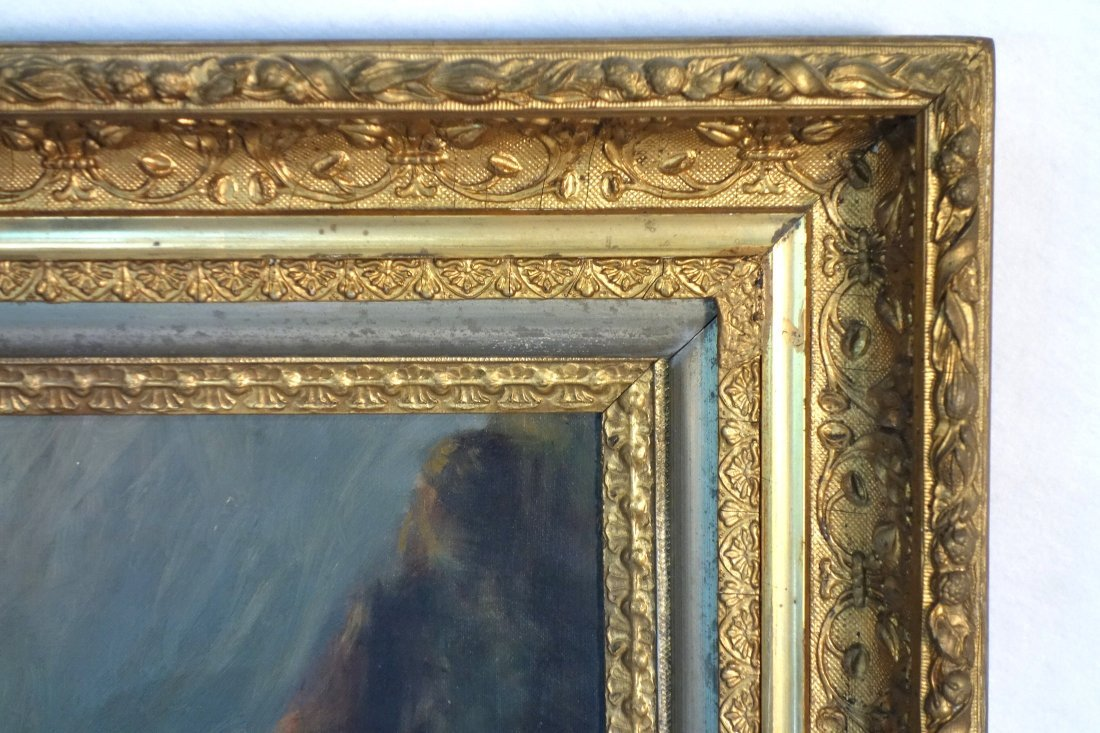 Two 19th century O/C paintings framed in good American - 4