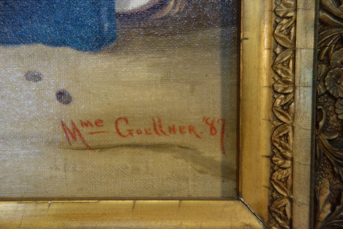 Two 19th century O/C paintings framed in good American - 7