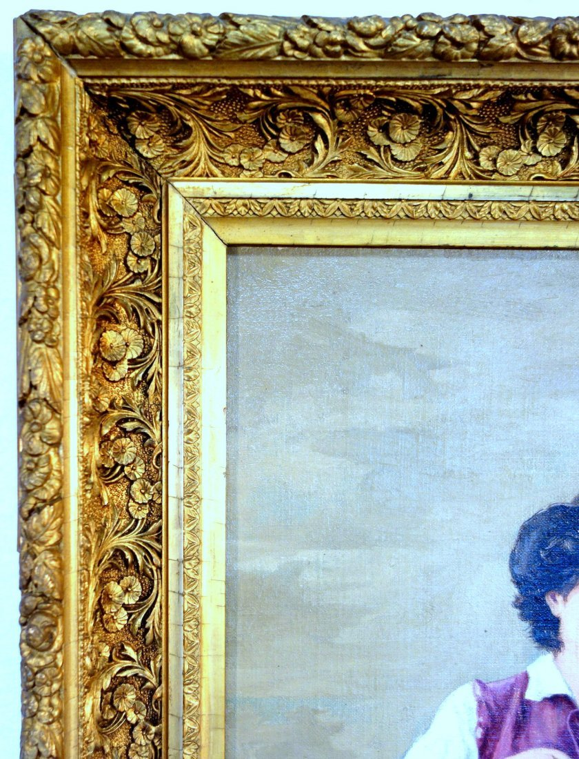 Two 19th century O/C paintings framed in good American - 8