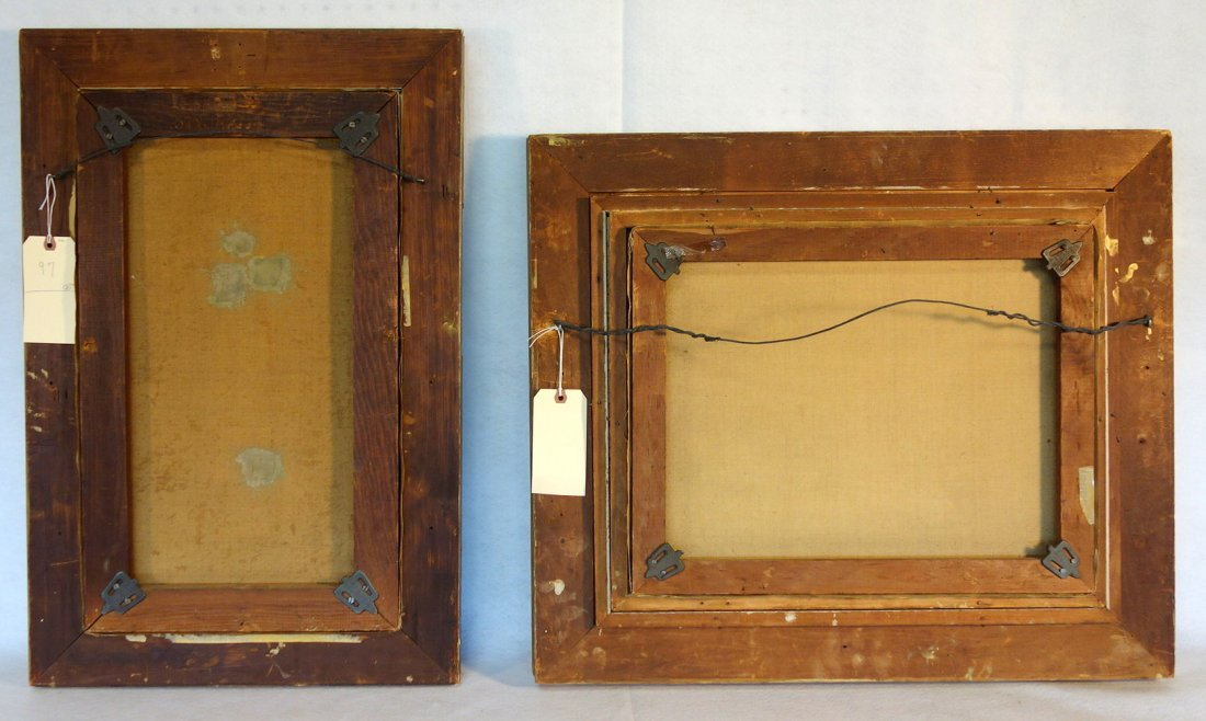 Two 19th century O/C paintings framed in good American - 9