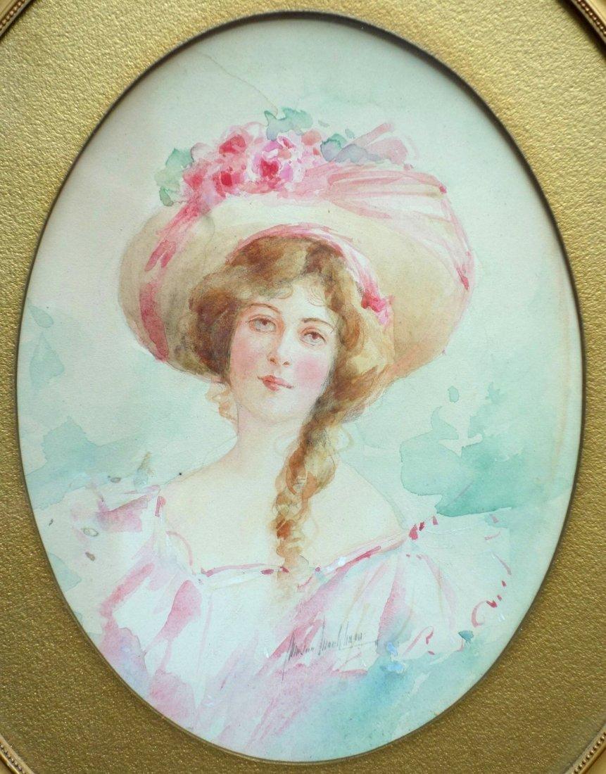 Marion Esther Markham (NY 1875-1918). W/C Portrait of - 2