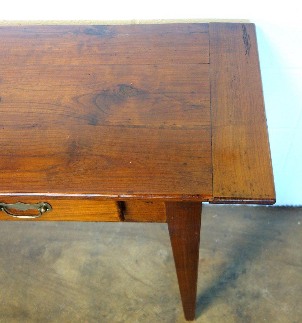 Long pine custom made work or sofa table with 4 drawers - 2