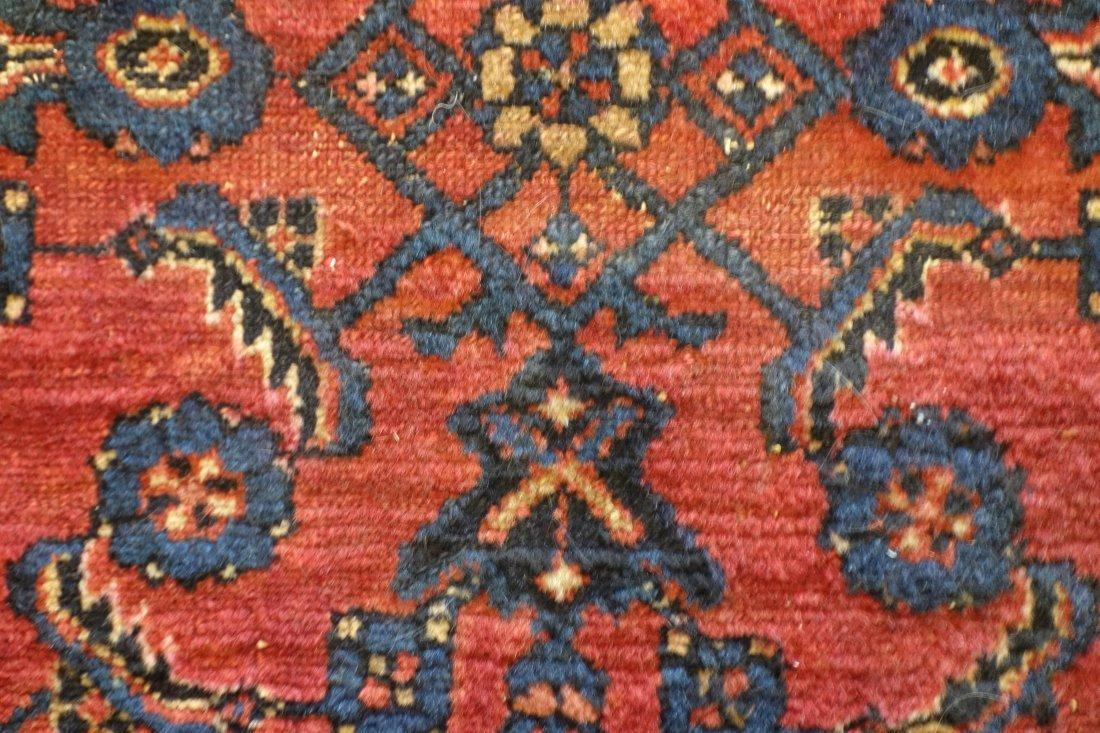 """Oriental scatter rug - 4' 9.5"""" x 3' 3"""". Minor wear, - 2"""