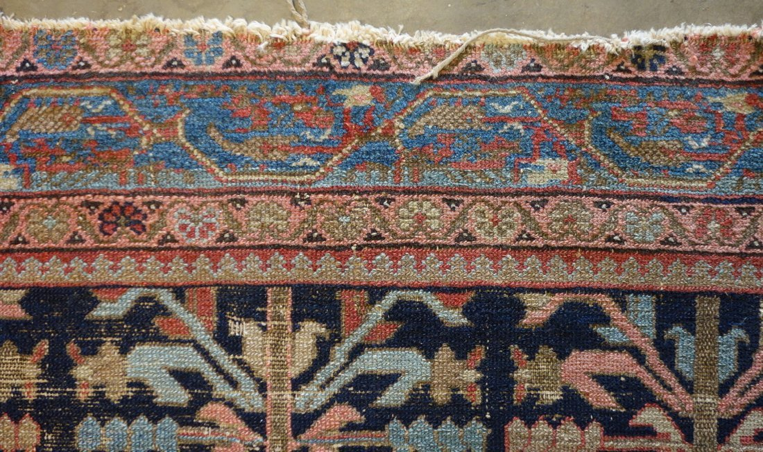 """Oriental scatter rug - 4' 6.5"""" x 6' 3"""". Low pile with - 3"""