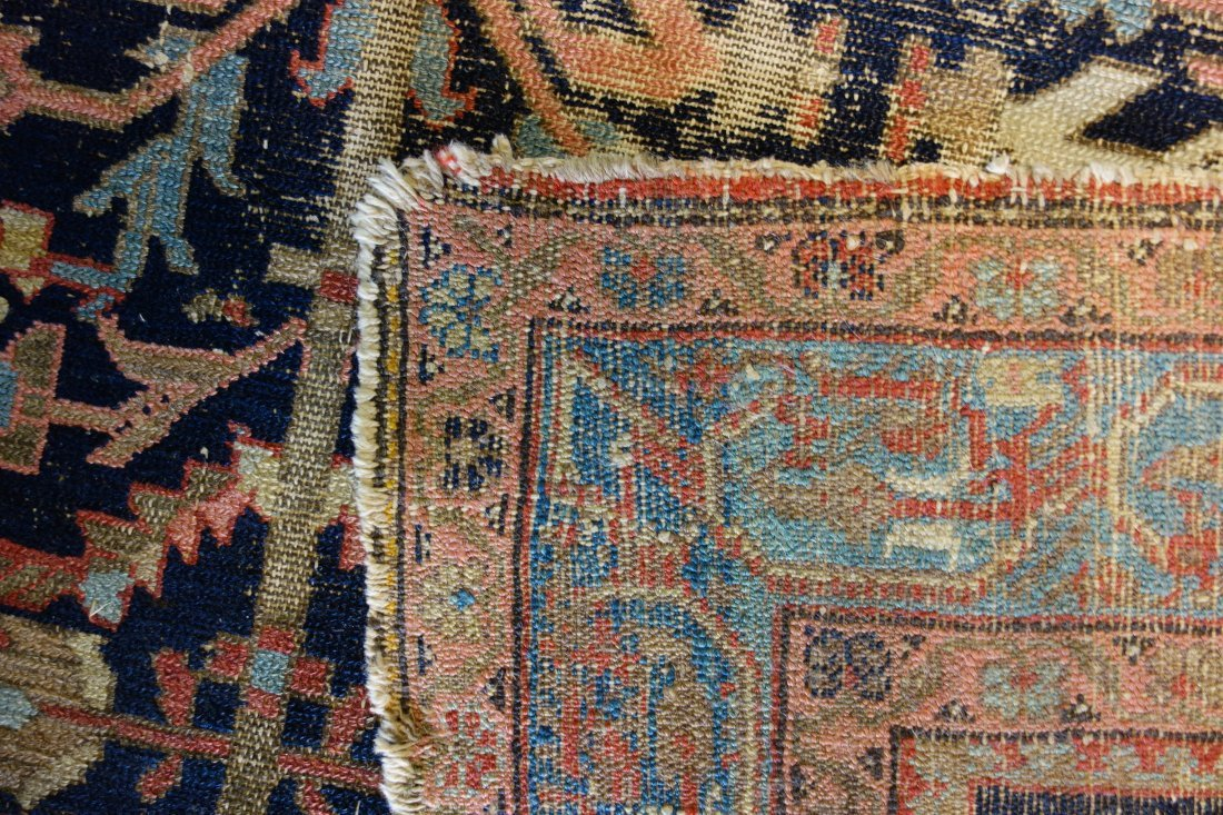 """Oriental scatter rug - 4' 6.5"""" x 6' 3"""". Low pile with - 4"""