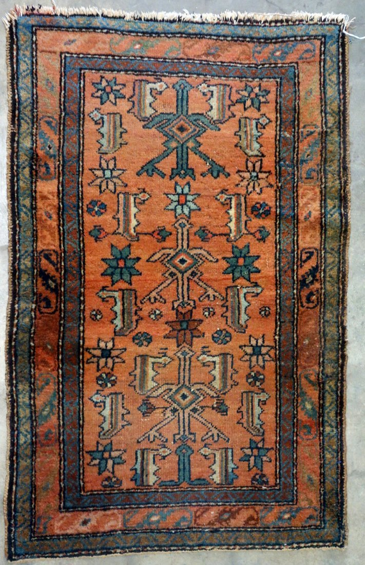 """Oriental scatter rug - 2' 6"""" x 3' 11"""". Good condition."""