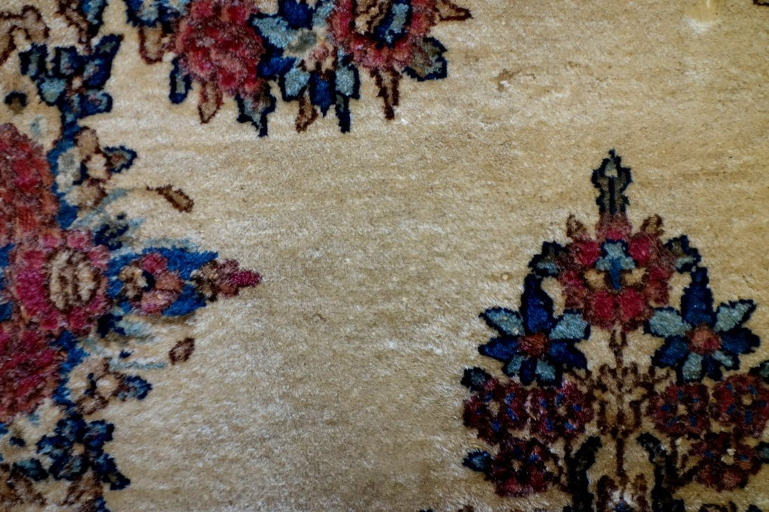 Oriental Kerman scatter rug - late 19th to early 20th - 2