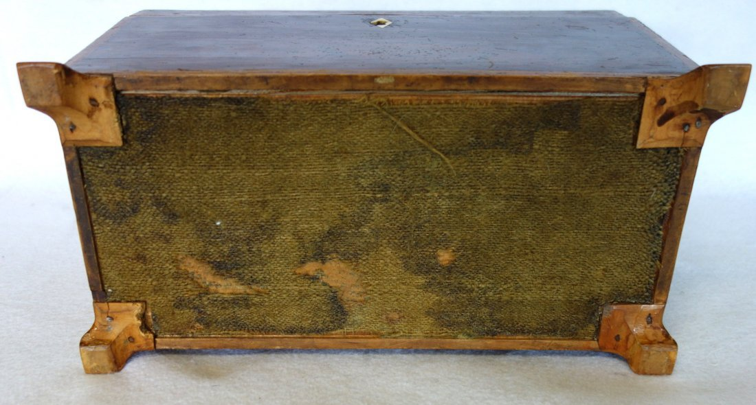 Rosewood 19th century footed tea caddy with applied - 6