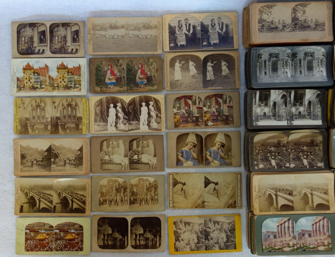 Large grouping of mostly European stereoview cards - - 2