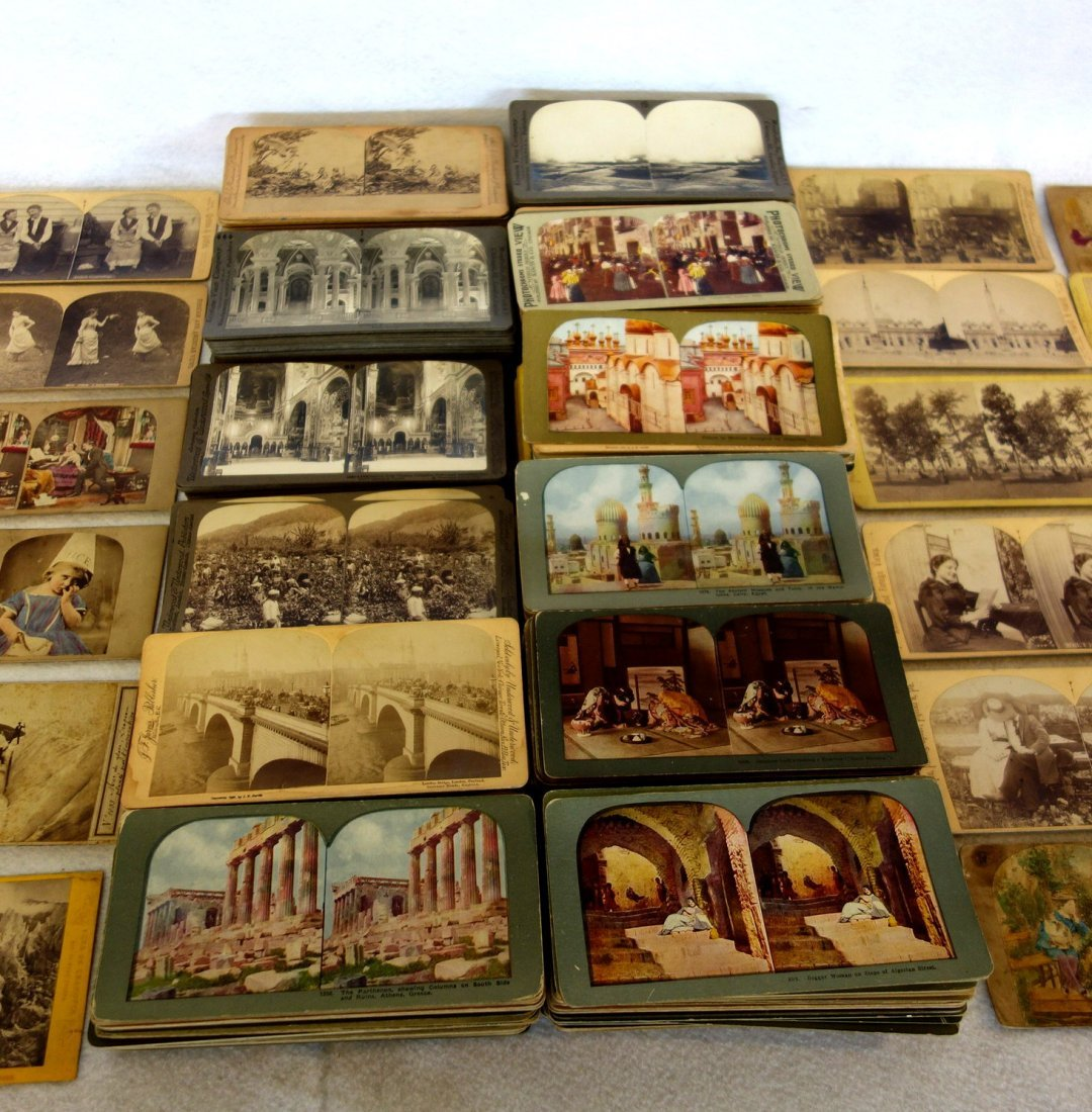 Large grouping of mostly European stereoview cards - - 3