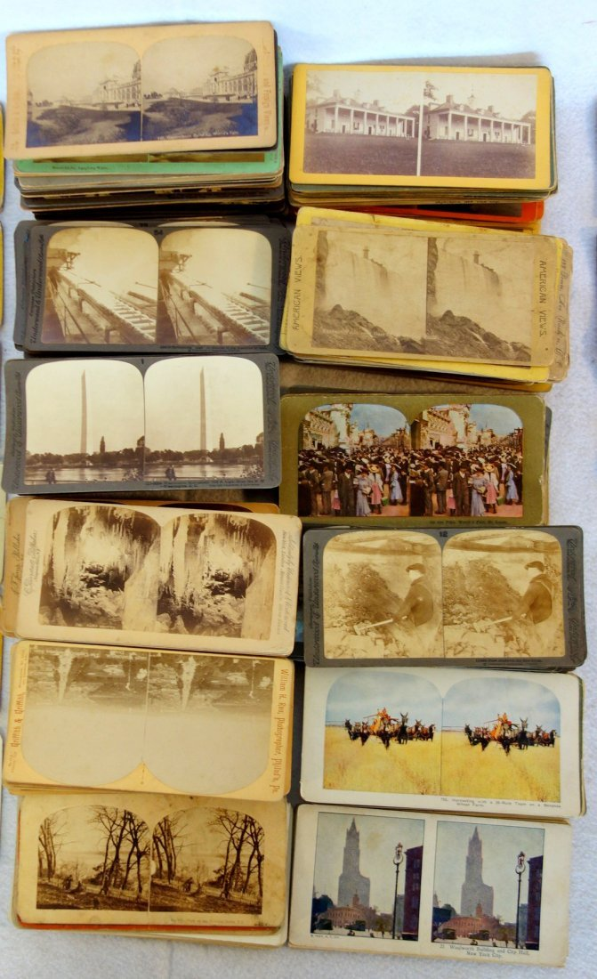 Large grouping of mostly American stereoview cards, - 3