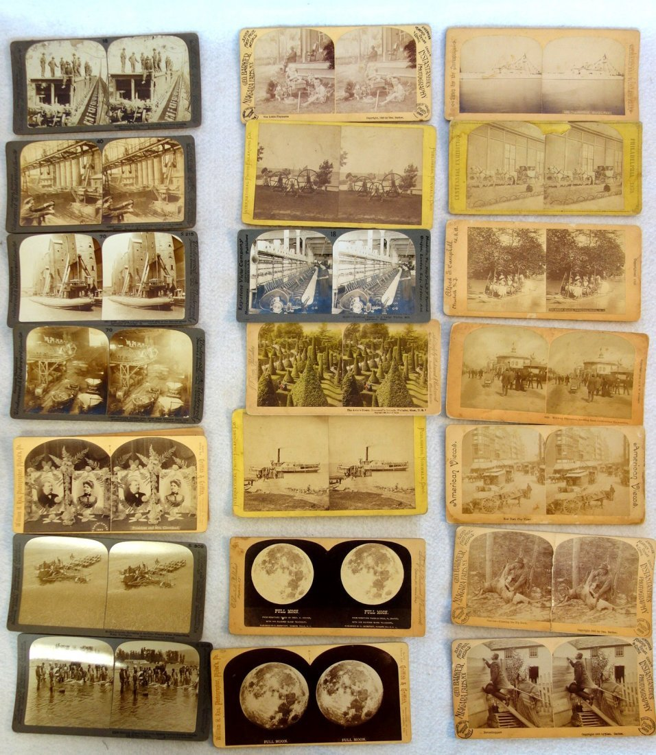 Large grouping of mostly American stereoview cards, - 4