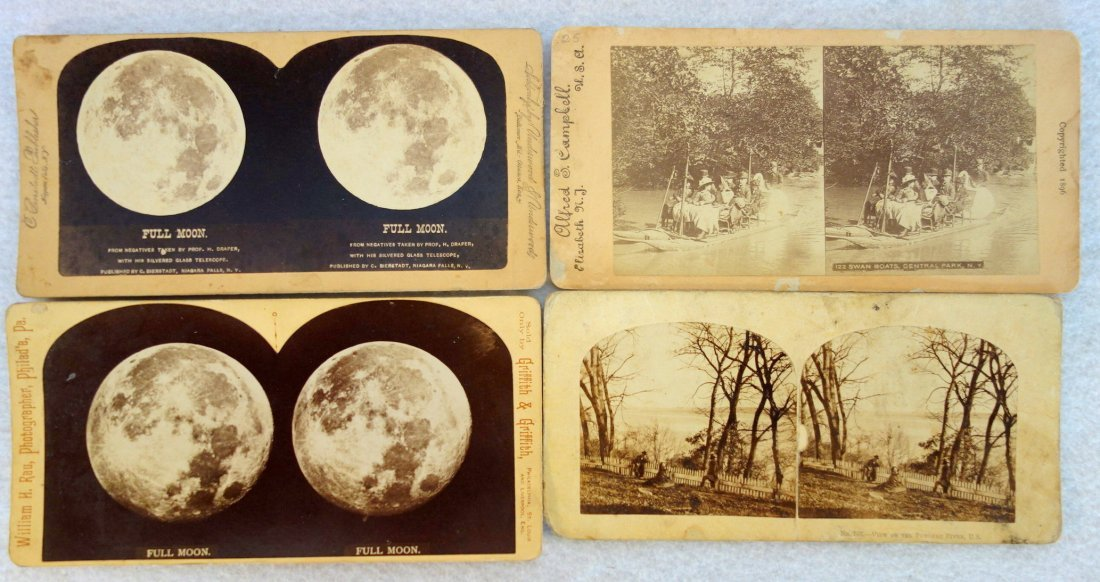 Large grouping of mostly American stereoview cards, - 5