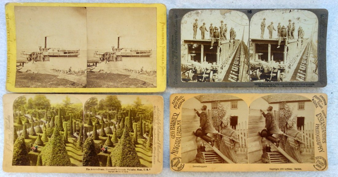 Large grouping of mostly American stereoview cards, - 6