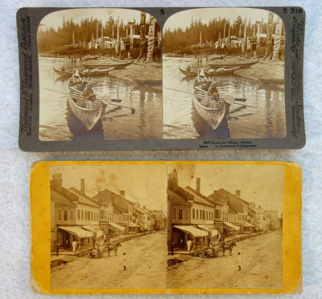 Large grouping of mostly American stereoview cards, - 7