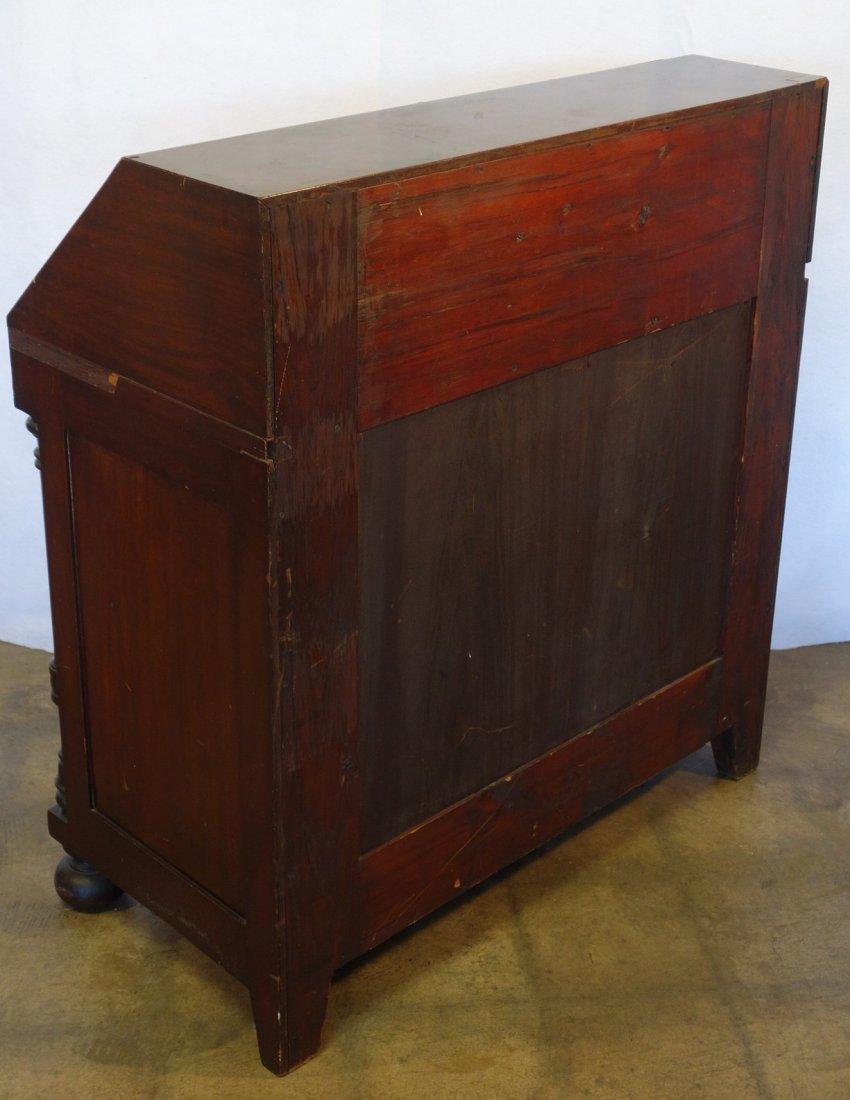 Custom mahogany Gov. WInthrop style drop front desk - 4