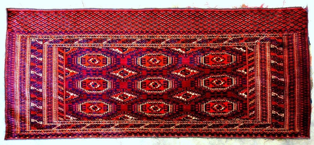 "Oriental Bokhara high quality rug - 2' 7"" x 6'. Very"
