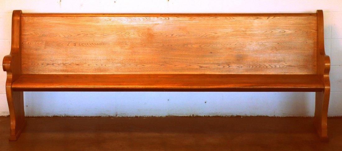 "American chestnut church pew - 89.5""L x 20.5""D x"