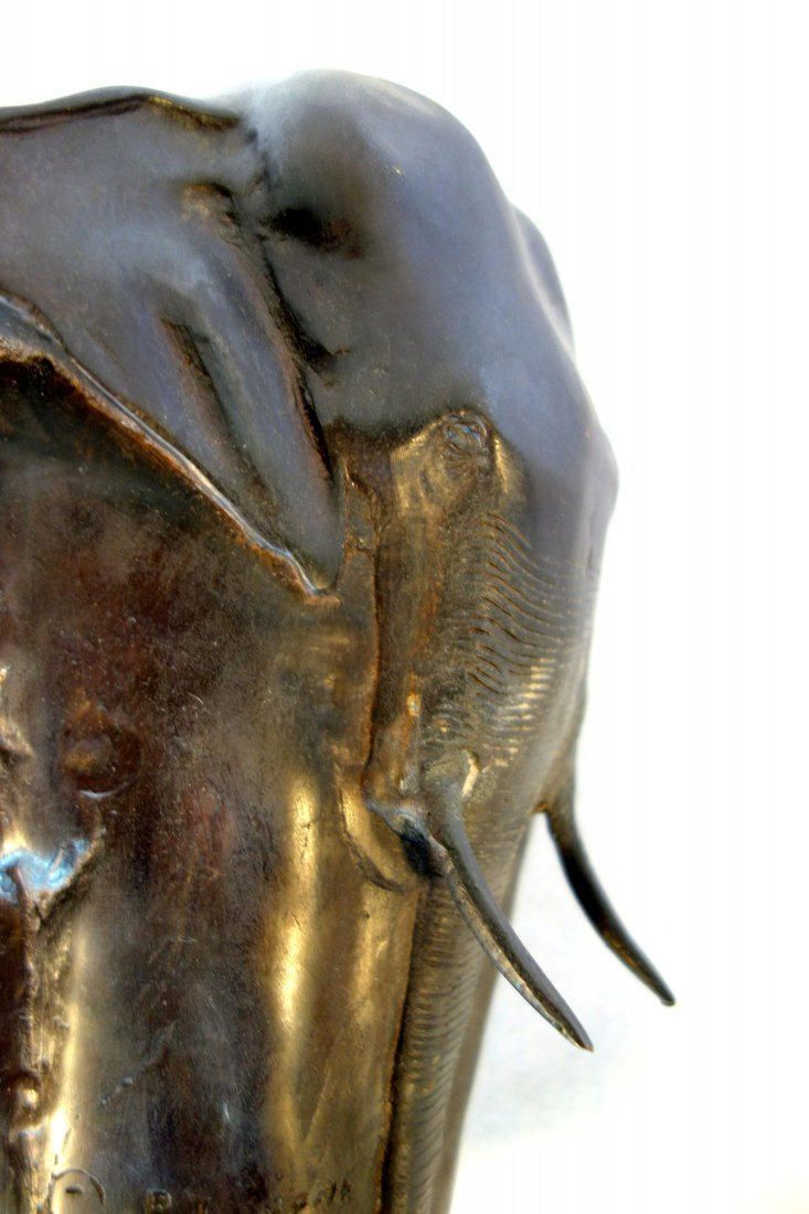 Bronze elephant vase signed P.J. Mene (after Pierre - 3
