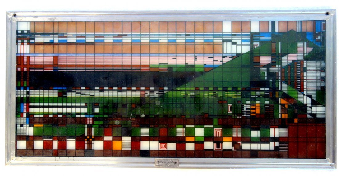 Frank Lloyd Wright Foundation issue of a stained glass