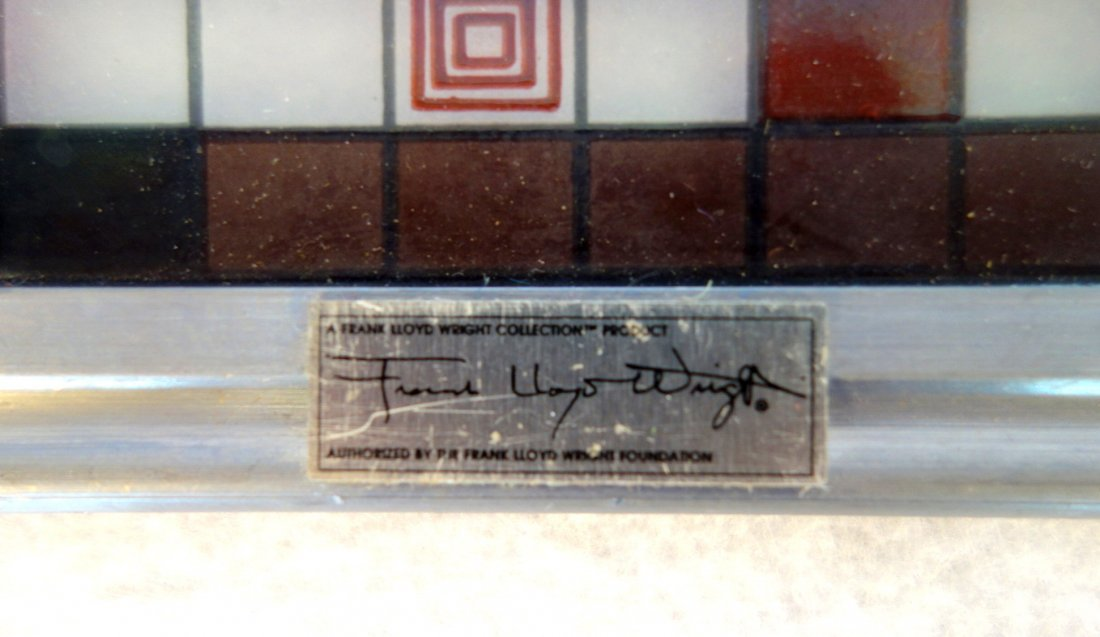 Frank Lloyd Wright Foundation issue of a stained glass - 2