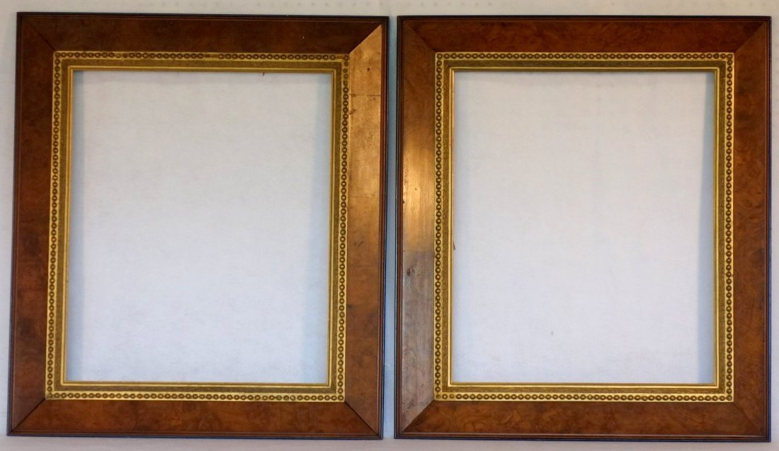Pair of 19th century matching portrait frames in