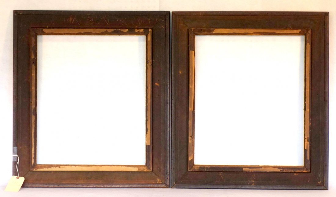 Pair of 19th century matching portrait frames in - 4