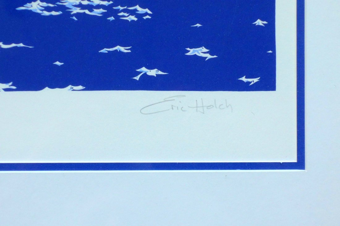 Erich Holch pencil signed sailboat print in limited - 2