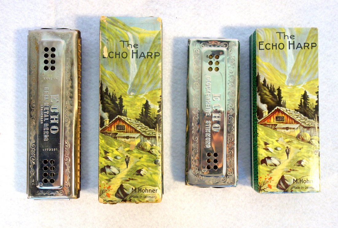 "Six harmonicas in the original cases including ""The 64 - 4"