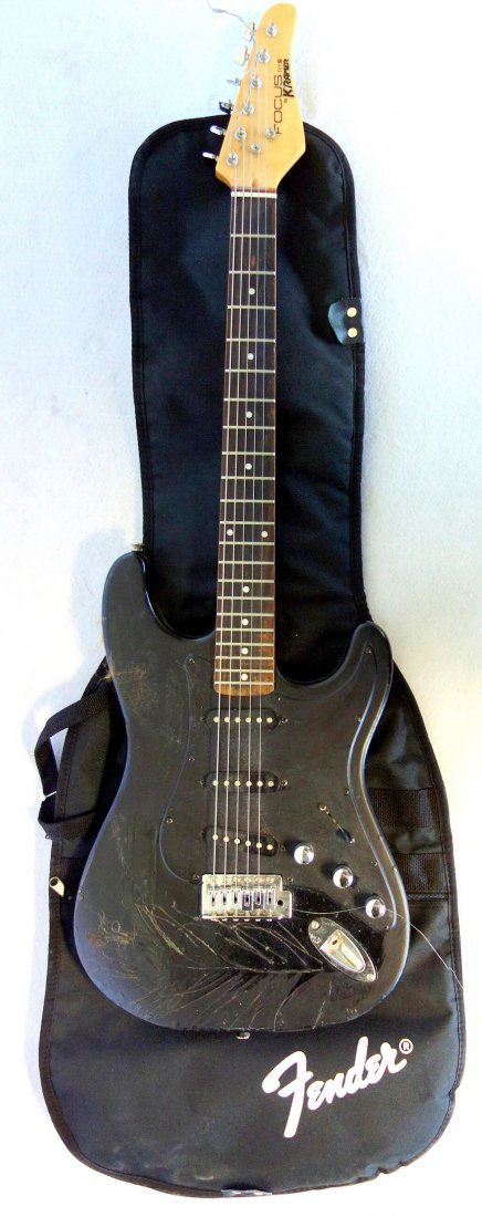 Two electric guitars and 2 amplifiers. Includes: Guitar - 6