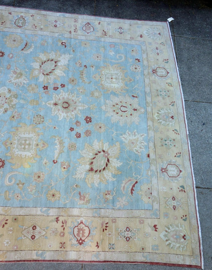 Large room size oriental style rug in light pastel - 2