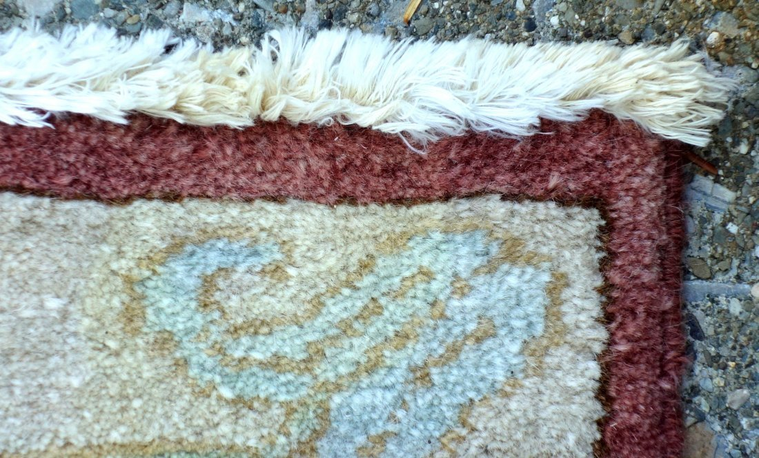 Large room size oriental style rug in light pastel - 7