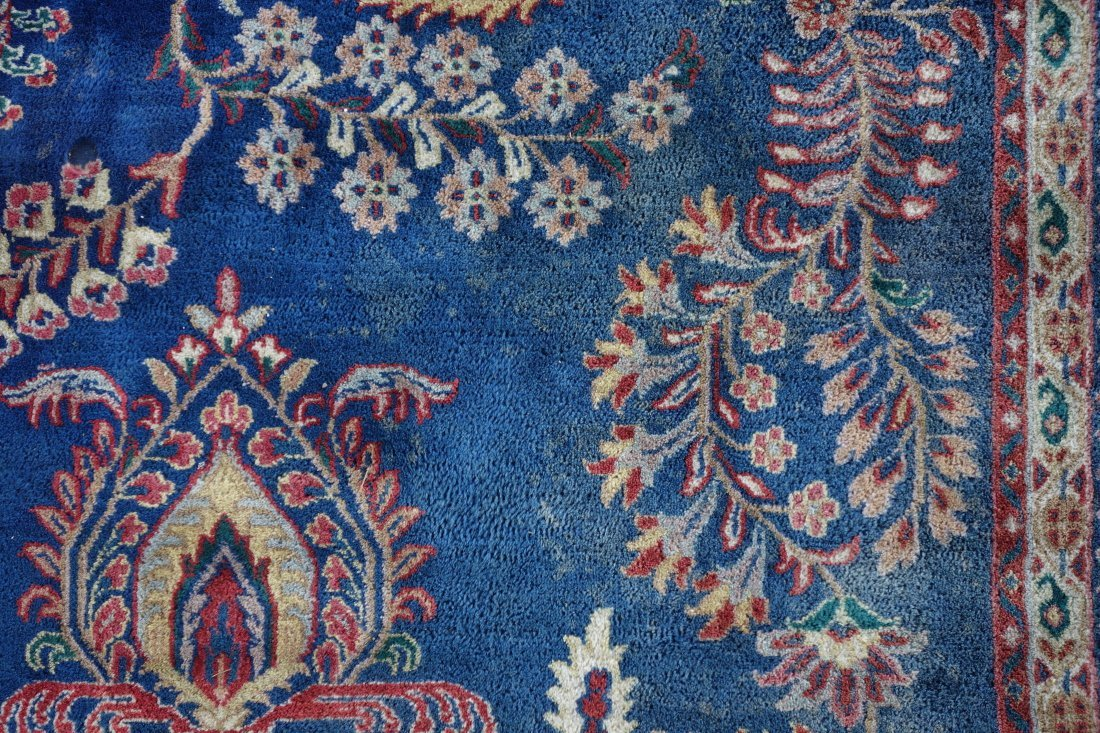"""Hand made oriental room size rug - 8'  1"""" x 9' 7"""". - 2"""