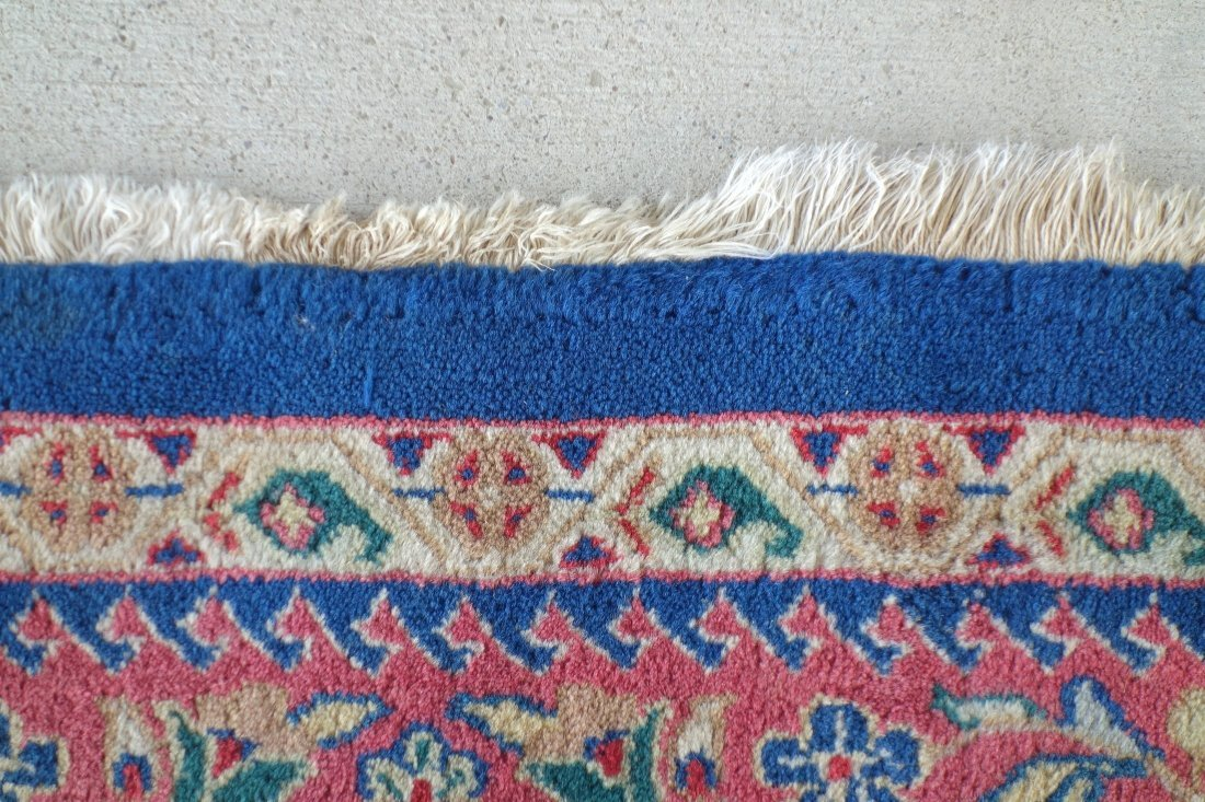 """Hand made oriental room size rug - 8'  1"""" x 9' 7"""". - 3"""