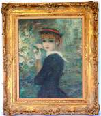 Large OC Portrait of a young lady wearing a bonnet and