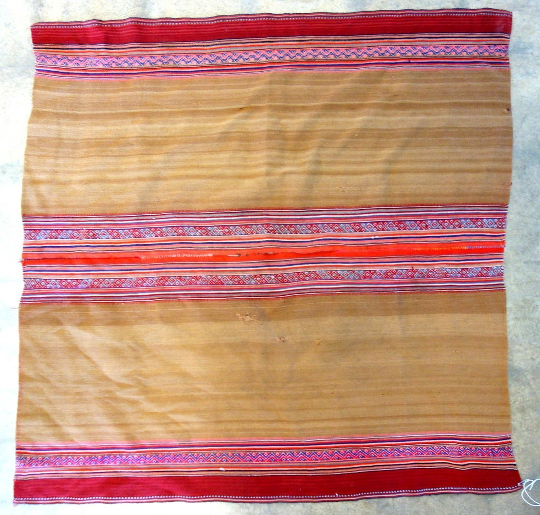 Grouping of 7 various woven textiles, 19th and 20th - 6