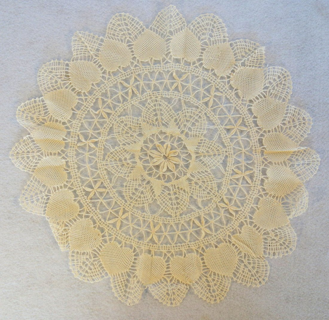 Grouping of mostly old lace, one piece with attached - 3
