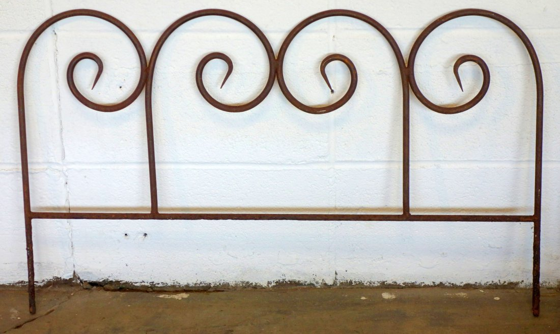 "Grouping of eight 30"" section of wrought iron garden - 2"