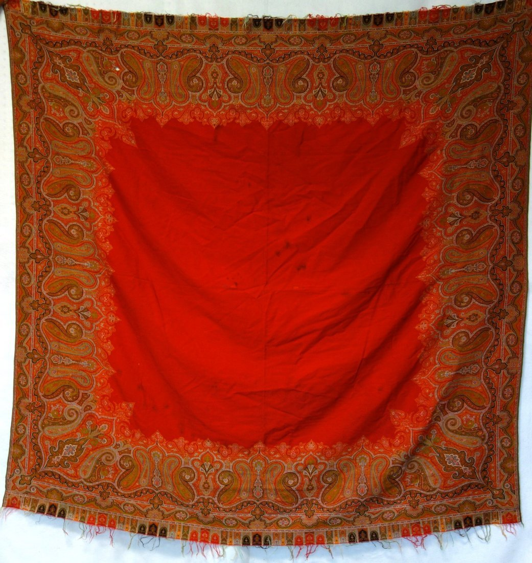 Victorian paisley shawl, with 2 small repairs and 1