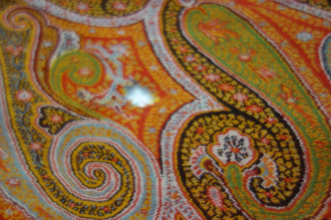 Victorian paisley shawl, with 2 small repairs and 1 - 3