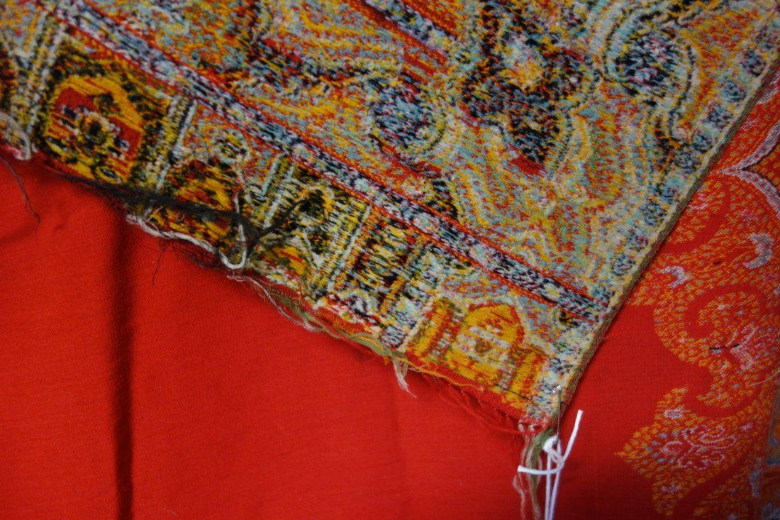Victorian paisley shawl, with 2 small repairs and 1 - 4