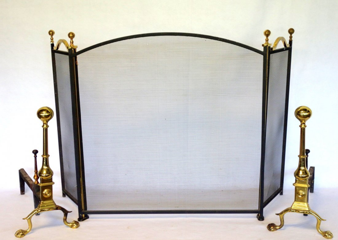 Pair of high quality contemporary brass Chippendale