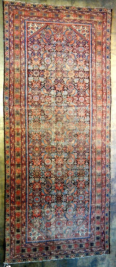 "Oriental scatter rug/runner - 11 ' 4"" x 4' 9"" - late"