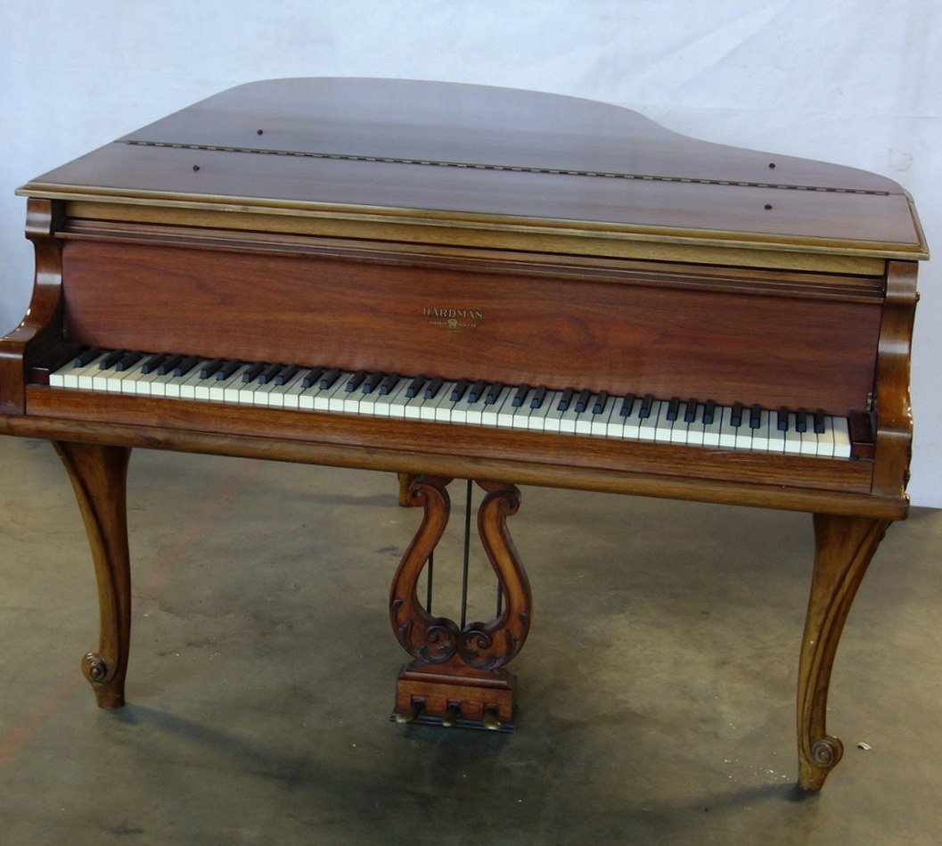 Hardman fruitwood baby grand piano in the French style - 3
