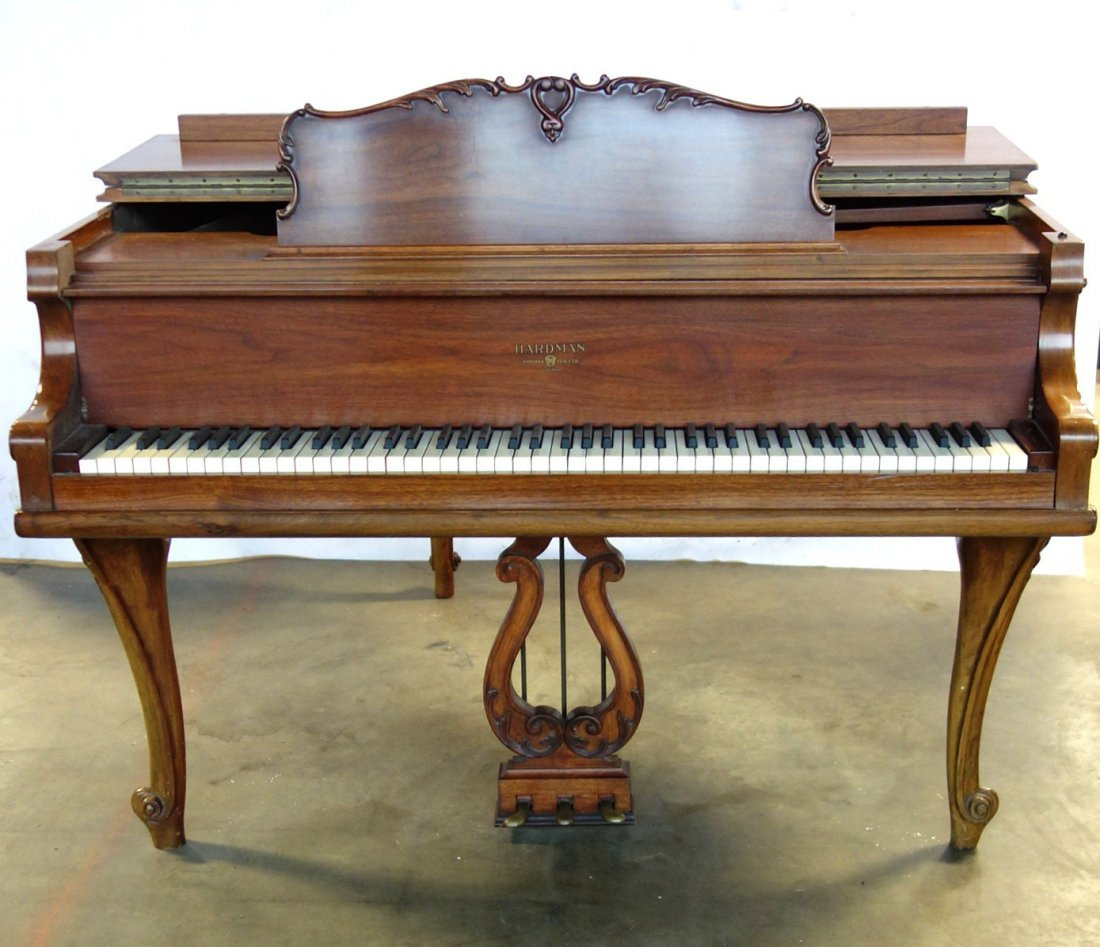 Hardman fruitwood baby grand piano in the French style - 4