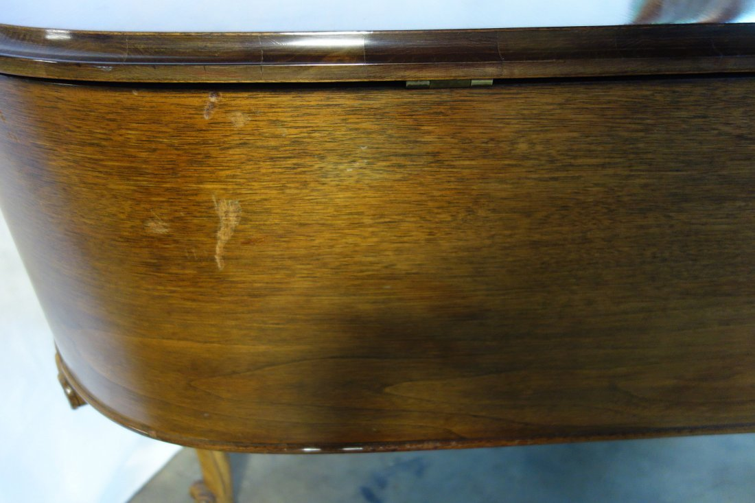 Hardman fruitwood baby grand piano in the French style - 5