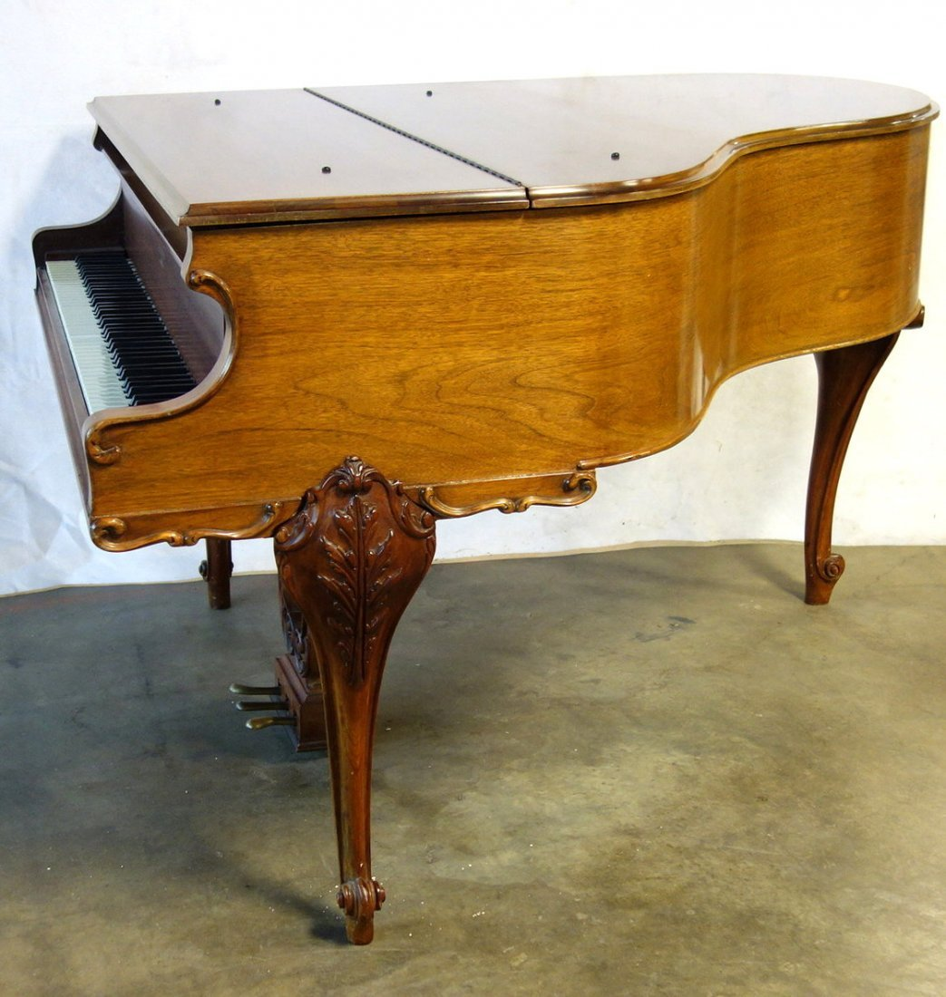 Hardman fruitwood baby grand piano in the French style - 6