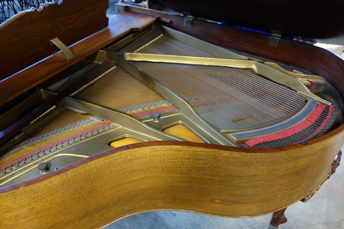 Hardman fruitwood baby grand piano in the French style - 8