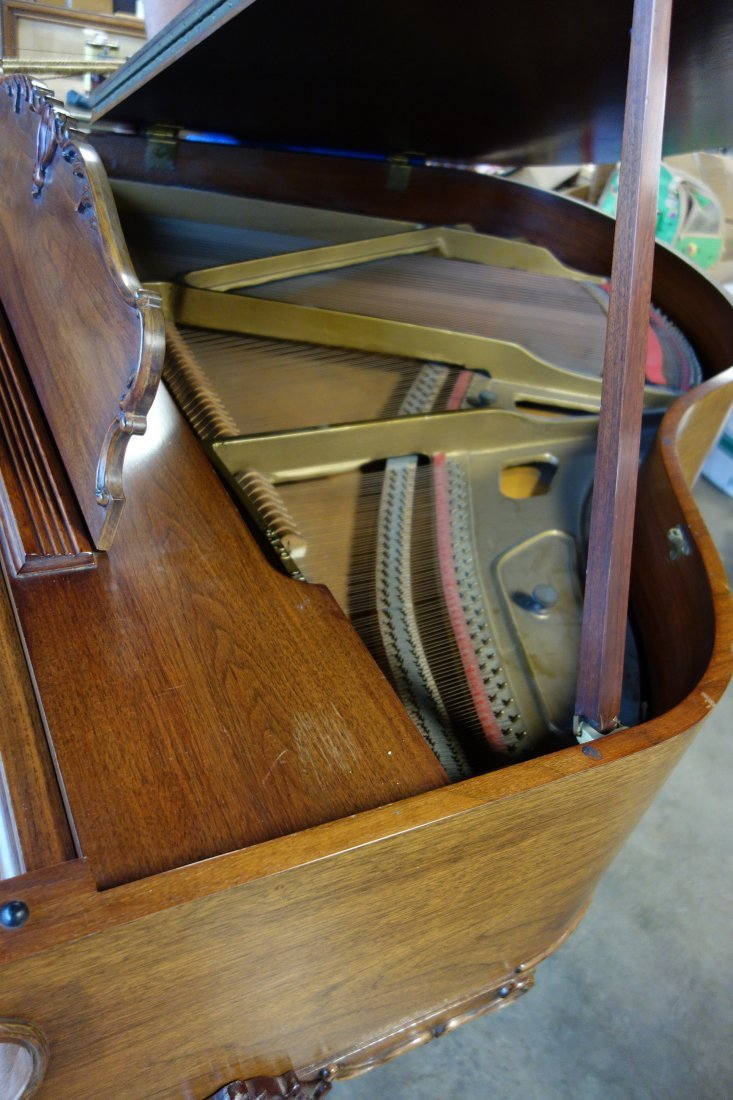 Hardman fruitwood baby grand piano in the French style - 9