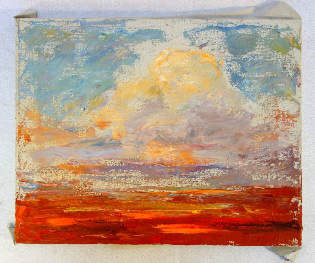 Grouping of 5 miscellaneous O/B Impressionist, unframed - 6